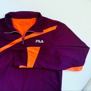 FILA Sport • Pink Orange Run Mesh Zip Gym Jacket L